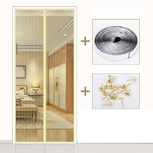 Kjtgfc in estate il velcro zanzariera magnetica porta in camera da letto di divisione anti - ventilazione di cifratura del muto per uso domestico-b-120x220cm(47x87inch)