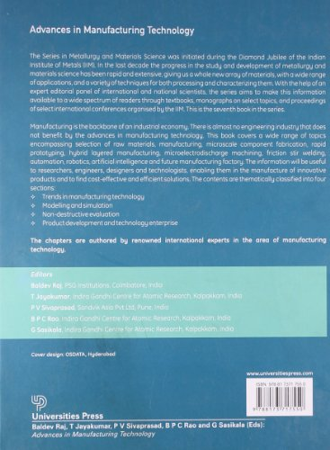 Advances in Manufacturing Technology (Metallurgy & Materials Science)