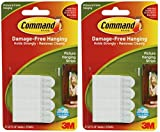 2 x 3M Command Small Picture Strips Set Of 4 Strips by Command