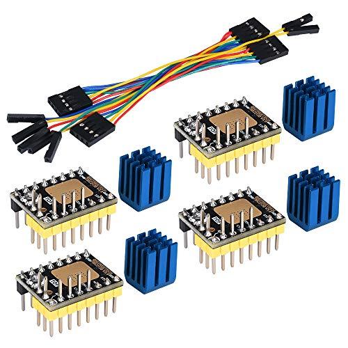 KINGPRINT TMC2130 V3.0 Schrittmotor StepStick Silent Silent Drive mit Kühlkörper für 3D-Drucker-Steuerungsplatine 4st (SPI)