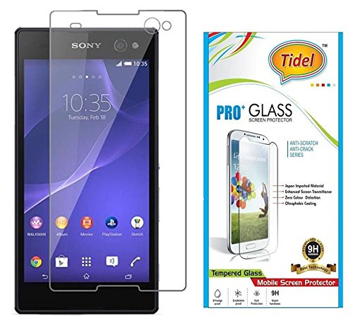 Tidel 0.3mm Curved Tempered Glass Screen Guard Protector For Sony Xperia M  available at amazon for Rs.105