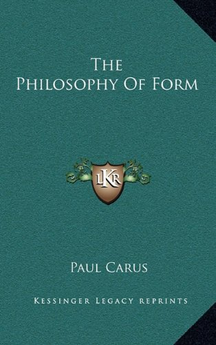 The Philosophy of Form