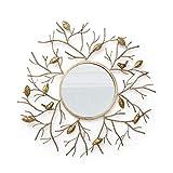 Tenture murale de miroir, mur européen de fond de canapé en fer forgé stéréo européen (coloré : -, Taille : -)...