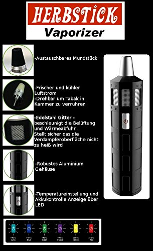 Dryherbs Vaporizer 2200mAh - Herbstick, silbe