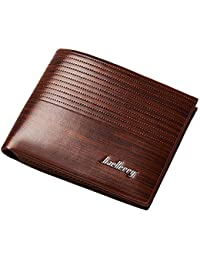 Men Rfid Wallets Pu Leather Purse Brand Small Business Card Holder Carteira Brown Male Dollar Wallets (Light Brown...