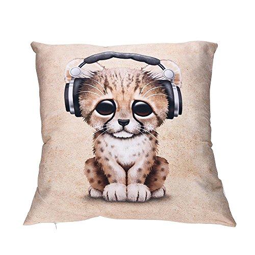 VJGOAL Encantador Animal de impresión Funda de Almohada Suave comfoatable sofá Coche...