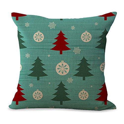 Hengjiang Bettwäsche, Baumwolle, Silvester Kissen, Kissenhülle, Kissenbezug Weihnachten #19