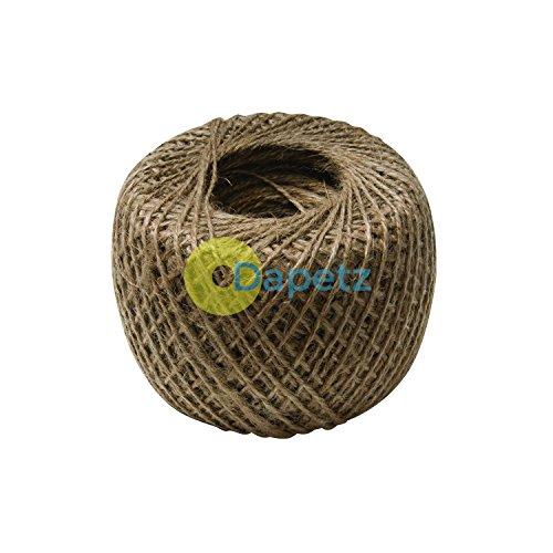 dapetz® naturel solide jute 250m Boule de corde pour attacher de plante de jardin jardin Ficelle Arrangement Floral