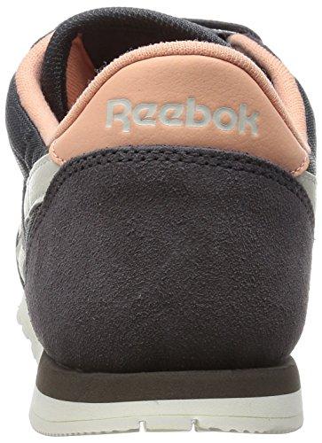 Reebok Cl Nylon Slim Core, Scarpe da Corsa Donna Gris / Marrón / Rosa (Ash Grey / Desert Stone / Chalk)
