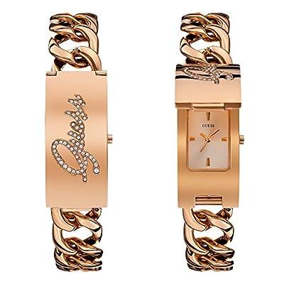 Reloj analógico de pulsera de mujer guess Trend para mujer oro rosa de acero inoxidable
