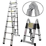 8m (1.9m 1.9m) für Leitern/Bilderrahmen aus Aluminium, faltbar, Telescopic Leiter, Schritte, ausziehbares, 12Stück