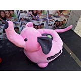 Baby Seat Chair Stool Soft Toy Chair Comfortable Stuffed Spongy Hugable Cute Soft Toy Baby - 46 Cm (Multi Colour)/Kids Playing Seat/Pink Jumbo Elephant Baby Seat/soft Toys Seat For 1 To 2 Years Baby-FREE SHIPPING