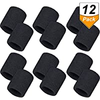 12 Pack Sweatbands Sports Wristband Cotton Sweat Band for Men and Women, Good for Tennis, Basketball, Running, Gym, Working Out