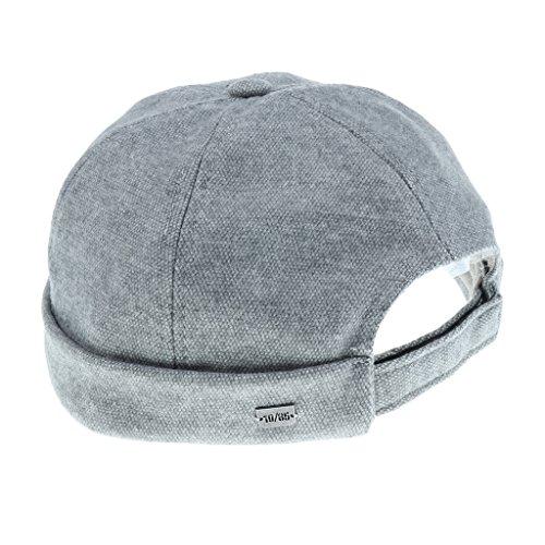 Gazechimp Vintage Retro Dockercap Baumwollmütze Mütze Dockermütze Sommermütze Wintermütze - Neutrales Grau, wie beschrieben