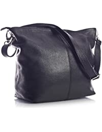 ee36b02b38 Genuine Italian Soft Grained Leather Cross Body Hobo Shoulder Slouch Bag  Handbag With Cotton Like Lining