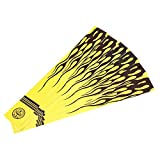 Vbestlife 12 Unids Universal Archery Arrow Wraps Sticker Arrow Shaft Sticker Yellow Cresting Wraps Accesorio de Caza