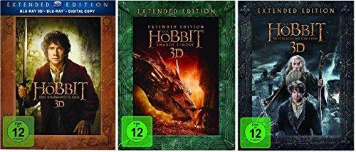 Bild von 3D Blu-ray Set (+2D) * Der Hobbit Trilogie Teil 1+2+3 je Extended Edition * (Eine unerwartete Reise+Smaugs Einöde+Die Schlacht der fünf Heere)