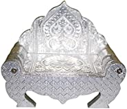 Coolboss Silver-Plated Small God Simhasan for Home and Decoration