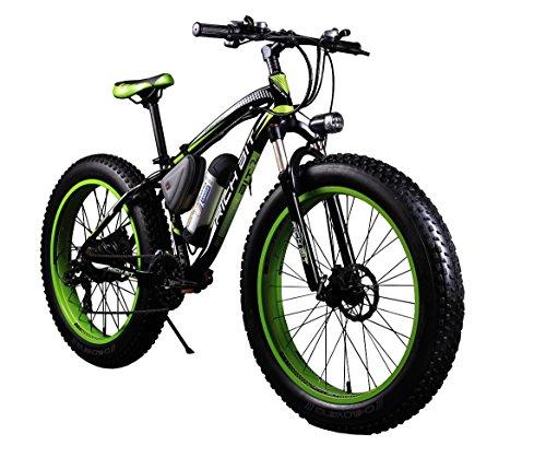 RICH BIT® RT-012 Elektrofahrräder E-Bike Cruiser Fahrrad Radfahren 350 W * 36 V 10 Ah Lithium Akku Fat eBike 26 Zoll 4.0 Tire Snow Bike Shimano 7 Gänge 21speed