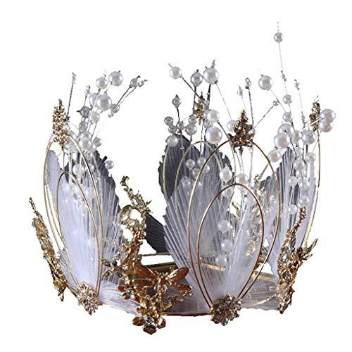 Muster Igel Kostüm - vijtian Fashion Design Braut Krone Zirkonia Strass leuchtende Luxus Hochzeit Brautschmuck Geschenk Vier Jahreszeiten