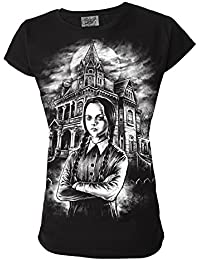 Inspired By The Addams Family Wednesday Addams Horror Movie TV Genuine Darkside Womens T Shirt
