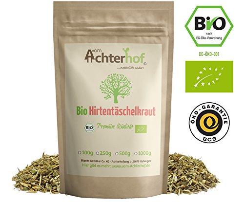 BIO Hirtentäschelkraut getrocknet geschnitten (500g) vom-Achterhof Hirtentäschel-Tee - Shepherds purse herb organic