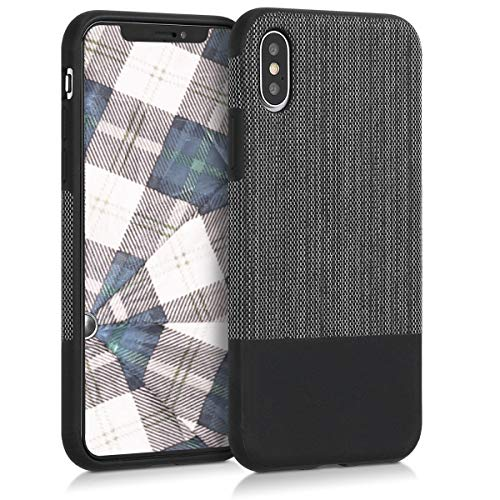 kwmobile Apple iPhone X Hülle - Handyhülle für Apple iPhone X - Handy Case Cover Stoff Schutzhülle
