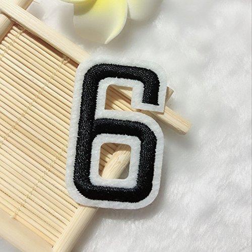Sie Schuhe Eigenen Passen Ihre (【 Kleidung Applikation Eisen/】 gestickten Patches 0–9Digital Jersey Nummer Tag Nähen Eisen, auf Mark Abzeichen Patch für Kleidung Aufnäher Zubehör, 6, 7#)