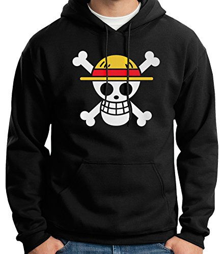 35mm - Sudadera con Capucha - One Piece - Hoodie, Negra, XL