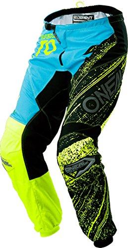 0130A-2 ONeal Mayhem Lite Tubo Radiatore Blocco Schwarz Giallo Fluo MX Motocross Enduro Fuoristrada Quad Pantaloni