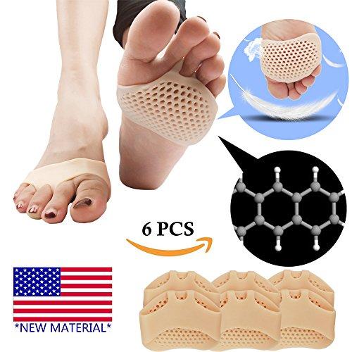Cuscinetti metatarsali, cuscinetti a sfera Cuscinetti dell'avampiede, gel traspirante e morbido, ideale per piedi diabetici, callo, vesciche.