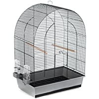 DUVO 493/107jaula gris/negro con accesorio para pájaro