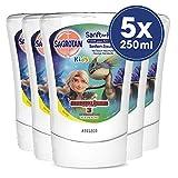 Sagrotan No-Touch Kids Nachfüller Seifenzauber Kamille - Für den automatischen Seifenspender - 5 x 250 ml Handseife im praktischen Vorteilspack