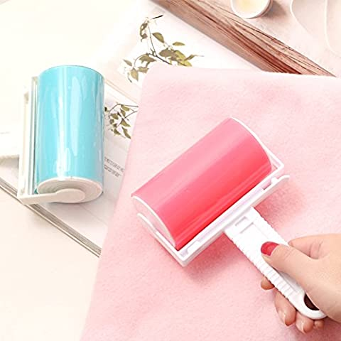 Home Fluff Pet Hair Clothe Dust Remover Washable Sticky Lint Roller Picker Cleaner Set Yellow