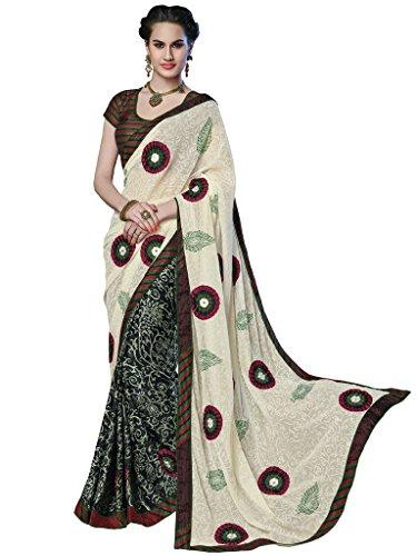 Mahotsav Women's Faux Chiffon, Shimmer , Faux Crape, Jacquard Art Silk Sarees ( 8409 )  available at amazon for Rs.2175