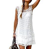 Unicoco Falda Mujer Blanco Vestido Bañador Playa Blusa Verano