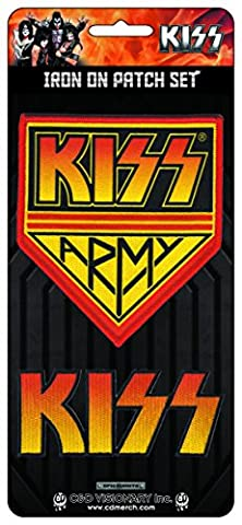 KISS, Officially Licensed, Iron-On / Sew-On, Embroidered - 2 PATCH
