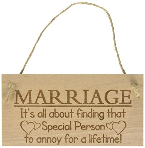 Red Ocean Marriage It's All About Finding That Special Person To Annoy For A Lifetime Funny Wooden Hanging Plaque Novelty Marriage Sign Anniversary Married Gift