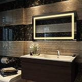 Duravak LED Spiegel, Badspiegel 60 x 100cm mit Energiesparender Beleuchtung Waltweiß IP44