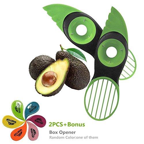 WSKTOP Avocadoschneider,3-in-1 Avocado Slicer Mangoschneider für Obstschäler & Schneider,2 Stück (Avocado Cutter) Avocado Slicer