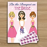 PIN THE BOUQUET ON THE BRIDE | Hen Night Party Game | Like Junk on Hunk | 24 Player
