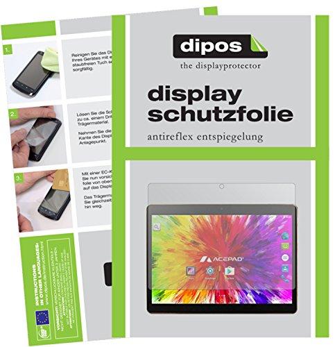 dipos I 2X Schutzfolie matt passend für Acepad A121 Folie Displayschutzfolie