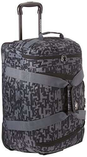 Chiemsee Reisetasche Rolling Duffle, Typo Black, 58 x 38 x 30 cm, 55 Liter, 5011004 (Duffle Trolley Rolling)