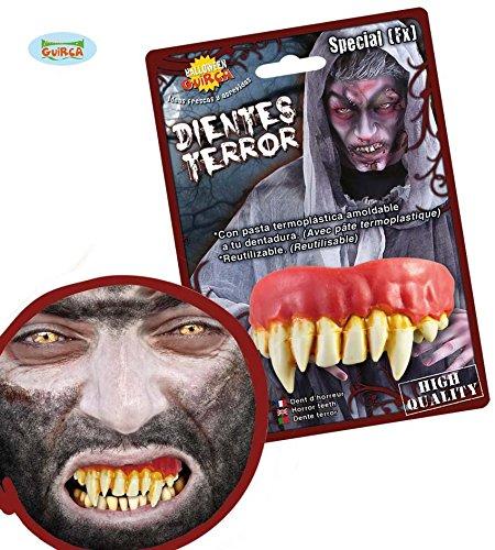 SPECIAL FX - WERWOLF ZÄHNE - mit Thermopaste, Lykaner Gebiss Tier (Zahnspange Kostüm Zähne)