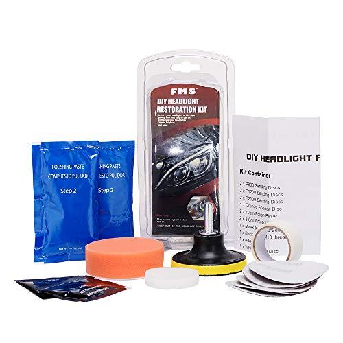 FMS Kit di Ripristino Fanali elimina striature e graffi dai fari in plastica DIY set per lucidatura fari