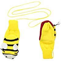 Kidorable Yellow Bee Soft Acrylic Knit Mittens With Fun Wings and Antennae