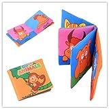 Yosoo Soft Tuch Baby Buch Spielbuch Puzzlebuch Geeignet für 3 Monate bis 3 Jahre alte Kinder, ca.10 x 9cm (Animals) - Englische Version