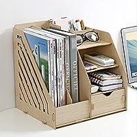Organizador de escritorio de madera multifuncional - Escritorio de DIY Armario de almacenamiento estacionario ordenado - Lápices de la pluma Portateléfono-Caja de almacenamiento de cosméticos-L29.2 *