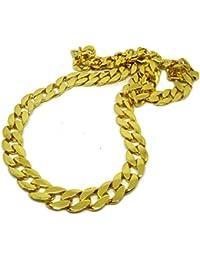 Bling Bling - Cadena, 83cm, chapada en oro, estilo Miami, cubano, hip hop