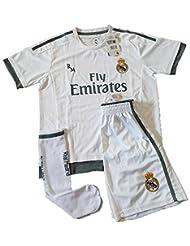 Equipación Infantil Completa Réplica Oficial Real Madrid Temporada 15/16 (Talla 12)
